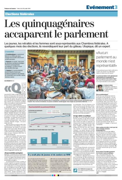 Les quinquagénaires accaparent le Parlement