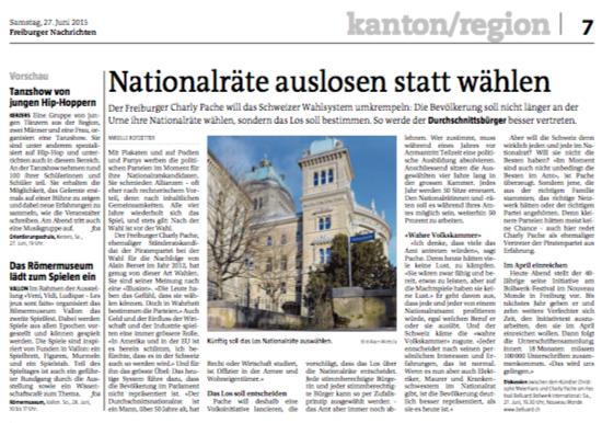 Volskinitiative Nationalrat Artikel Freiburger Nachrichten